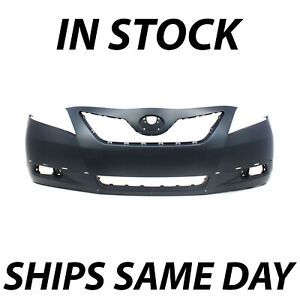 New Primered Front Bumper Cover Fascia For 2007 2009 Toyota Camry Se W Spoiler