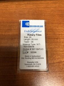 1 Pack Brasseler Endosequence Rotary Dental Files 25mm Size 35 06