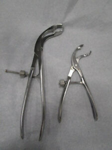 Synthes 398 83 398 80 Self centering Bone Holding Forceps Set Of 2