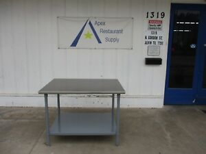 Stainless Steel Top 48 X 36 Work prep Table W under Shelf 3627