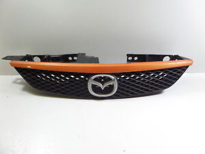 03 Mazdaspeed Protege Msp Oem Center Grill Grille Bumper Spicy Orange Mazda