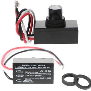 2 Quality Outdoor Electric Resistor Photocell Light Control Sensor Switch Jl103a