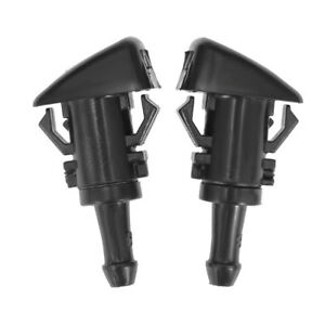 2pcs Windshield Washer Water Nozzle Spray For 2009 2015 Dodge Ram 1500 4805742ab