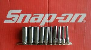 Snap On Tools 1 4 Drive 10 Pc Sae Deep 6 Pt Chrome Socket Set 110stmy