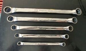 Snap On Tools 5 Pc Sae Standard Offset 12 Pt Double Box End Wrench Set Xb605a