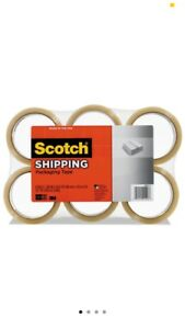 3m Scotch Moving Storage Packing Tape 6 Rolls Shipping Packaging