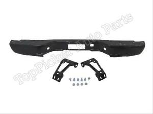 For 99 07 Silverado Fleetside 1500 2500 Rear Bumper Bar Black Out Brace Bracket