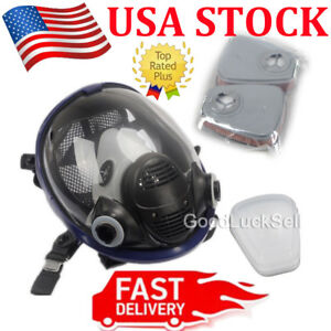 7 In 1 Facepiece Respirator Painting Spraying For 3m 6800 Full Face Gas Mask Usa