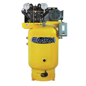 Emax Ep10v120v1 10 Hp 120 Gal Vertical Industrial Air Compressor New