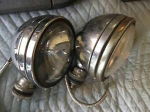 Pair Of Vintage Kc Hilites Fog Spot Driving Light Off Road Stainless 6 Round