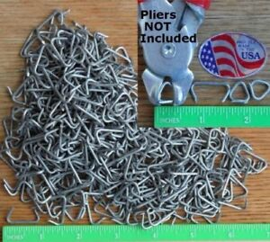 Hog Rings 15 000pcs 1 Case 3 4 Steel Net Attachment Fence Cage Upholstery Sharp