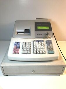 Sharp Xe a41s Electronic Business Cash Register W Keys powers On