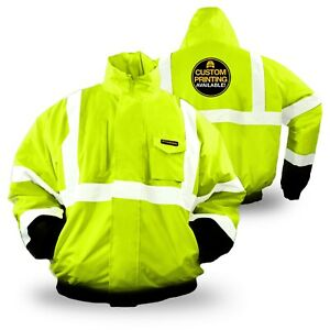 Kwiksafety Guard Ansi Class 3 Insulated Reflective Bomber Style Safety Jacket
