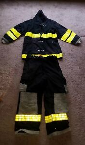 Firefighter Turnout Gear Quaker Safety 42x33 Coat Cairns Pants 36x28 Milford
