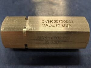 Dmic Cvh050750b22 Stainless Steel Check Valve Rated For 10 000 Psi G3 4 Bspp