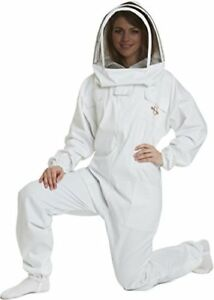 Natural Apiary Apiarist Beekeeping Suit White All in one Fencing Veil