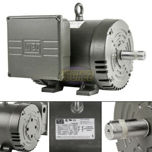 7 5 Hp Single Phase Electric Motor 184t Frame Odp 3510 Rpm 208 230 Volts Weg