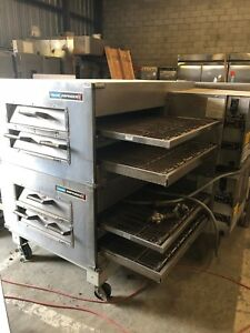 Lincoln Double Stack Pizza Oven Conveyor Model 3240 2 Natural Gas