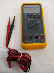 Fluke 87 V True Rms Industrial Digital Multi meter With Leads