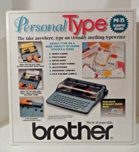 New open Box Brother Py 75 Personal Type Portable Electronic Typewriter