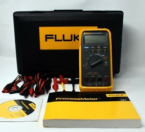 Fluke 787 Process Meter With Test Leads Fluke Case Cd rom And Instructions