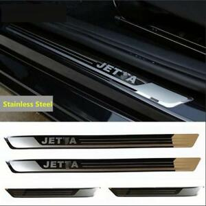4pcs Door Sill Scuff Plate Guard Sills Fit Volkswagen Jetta 2013 14 15 16 17 18