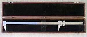Starrett No 122 Inside Outside 24 Vernier Caliper 1 1000 With Case Usa Made