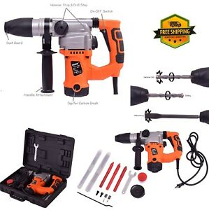 Hammer Drill Tool Kit Rotary Chisel 1000w Concrete Drilling Roto Variable Speed