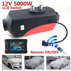 12v 5kw Diesel Fuel Air Heater Lcd Monitor Car Truck Heating W Remote Controller