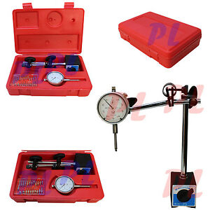 1 Dial Indicator W Magnetic Base Holder Fine 001 Graudation 22 Point Set