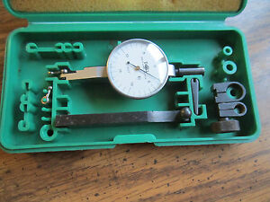 Doall 001 Inch Dial Indicator model R2 In A Nice Case With Accessories