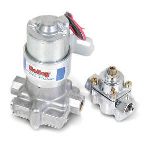 Holley 12 802 1 110 Gph Blue Electric Fuel Pump With Regulator