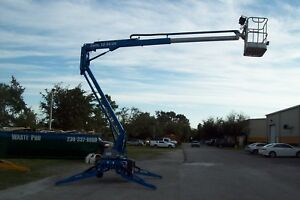Genie Tz34 20 Towable Boom Lift auto Leveling 40 work Height 20 outreach 2017