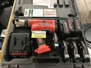 Ridgid Rp 210 Battery Press Tool Kit Propress Jaws For 1 2 To 1 1 4 Copper