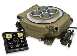 Holley 550 516 Sniper 4 Barrel Fuel Injection Conversion Self Tuning Kit Gold
