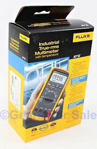 Fluke 87v Industrial Trms Multimeter With Temp New In Box Mfd Dec 2017