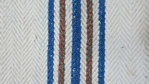 Antique European Hemp Grain Sack Gorgeous Blue And Multicolored Stripes