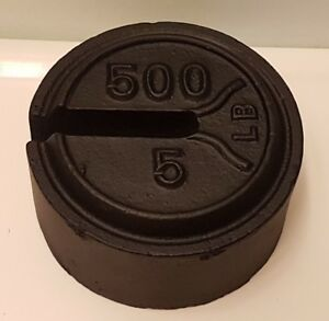 Vintage 5 500 Lb Weight For A Platform Balance Scale Fairbanks Pre Owned