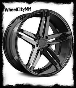 19 Inch Gloss Black Verde V39 Parallax Wheels Fits Charger Challenger 5x115 20