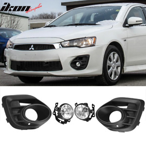 Fits 15 17 Mitsubishi Lancer Oe Style Black Front Lower Foglights Pair