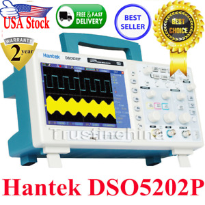 Hantek Dso5202p 2channels 7 Tft Lcd 800x480 Digital Oscilloscope 1gs s 200mhz