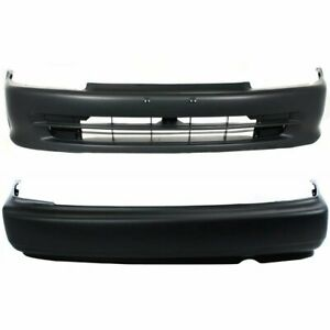 Front Rear Bumper Cover Set For 1992 1995 Honda Civic Sedan Primed Plastic