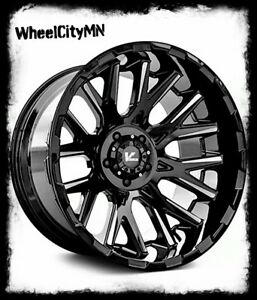 22 X12 Gloss Black Milled Vrock Vr10 Rims Fits Lifted Jeep Wrangler 2018 5x127