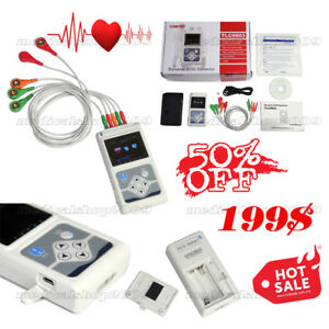 Ecg ekg Holter System 3 Channel 24 Hours Recorder Monitor Us software