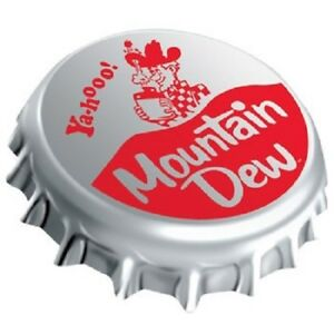 Vintage Style Die Cut Moutain Dew Bottle Cap Signs Country Store Advertising