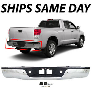New Chrome Steel Rear Step Bumper Assembly For 2007 2013 Toyota Tundra W Park