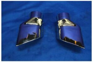 New 2013 2014 Ford Mustang Roush Square Tip Chrome Exhaust Tips Pair Right Left