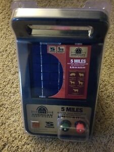 American Farm Works 5 Mile Solar Powered Electric Fence Controller free Ship