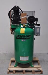 Speedaire 5hp 80 Gallon 3 Phase Electrical Vertical Tank Mounted Air Compressor