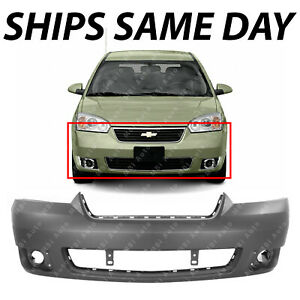 New Primered Front Bumper Cover For 2006 2007 2008 Chevy Malibu Lt Ltz W Fog